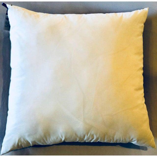Enormous Hermes 'La Promenade De Longchamps' Overstuffed Silk Pillow For Sale - Image 10 of 11