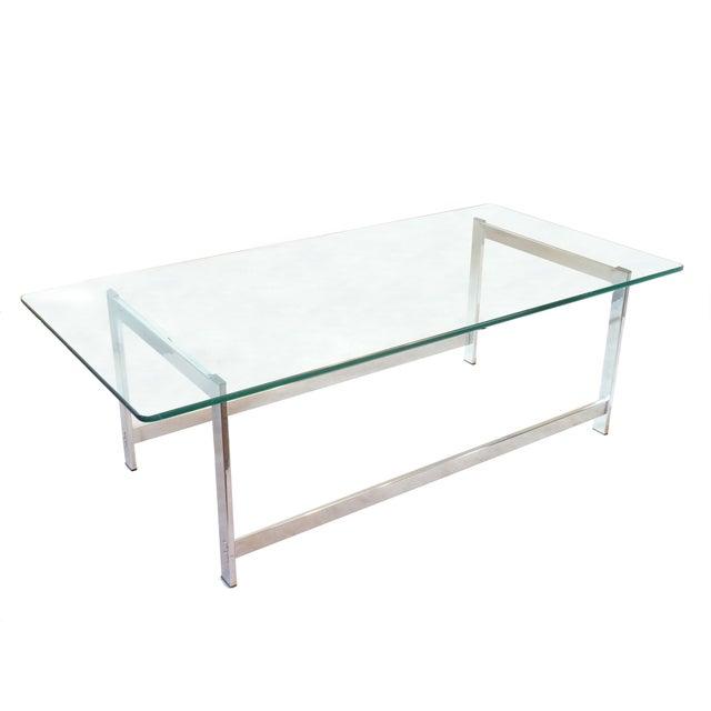 Glass Top Chrome Coffee Table: Glass Top Chrome Coffee Table
