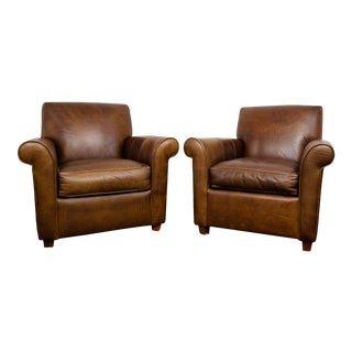 Vintage Leather Chairs - a Pair For Sale
