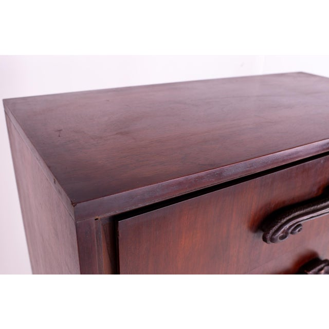 Brown Mid Century Witco Style Oceanic Brutalist 6 Drawer Gentlemans Chest For Sale - Image 8 of 11