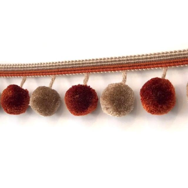 Boho Chic Pompom Tassel Fringe - 6.75 Yard Length For Sale - Image 3 of 8