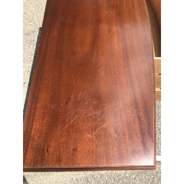 Wood Walnut Credenza With Tambour Doors by Baker Furniture For Sale - Image 7 of 12