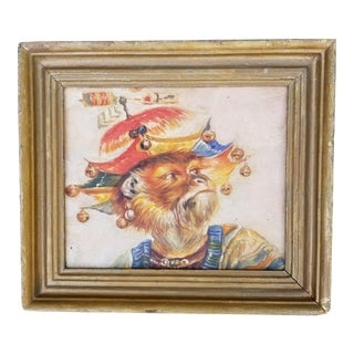 Whimsical Chinoiseri Monkey Painting For Sale