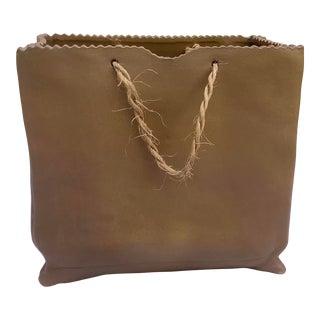 Raymor Midcentury Paperbag Vase For Sale