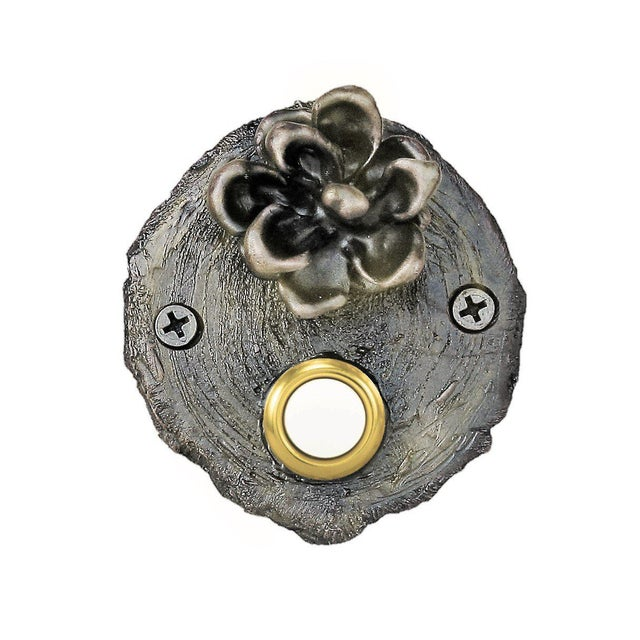 Log End Pinyon Cone Doorbell For Sale - Image 4 of 5
