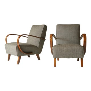 Pair of Lounge Chairs by Jindrich Halabala For Sale