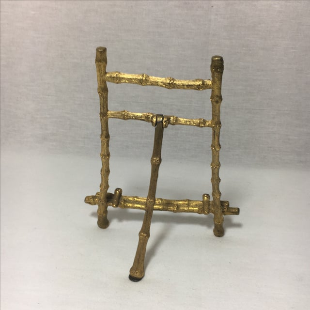 Vintage Brass Bamboo Picture Easel - Image 4 of 5