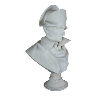 Napoleon Bonaparte Emperor - 19th Century Marble Bust For Sale