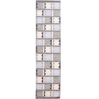 21st Century Contemporary Swedish Style Runner Rug, 3' X 12' For Sale