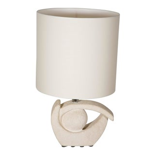Limestone Table Lamp by Albert Tormos For Sale