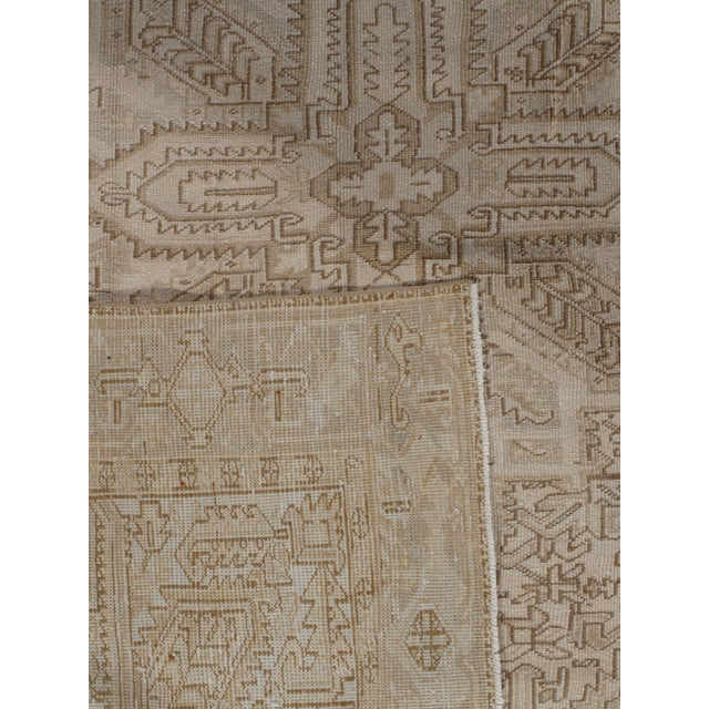 Vintage Persian Heriz Rug Circa 1940 7' X 8'8 For Sale In New York - Image 6 of 13
