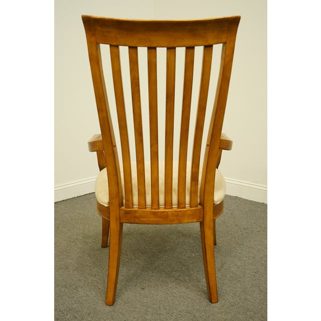 Wood Late 20th Century Thomasville Furniture Cinnamon Hill Collection Mission Style Dining Arm Chair For Sale - Image 7 of 11