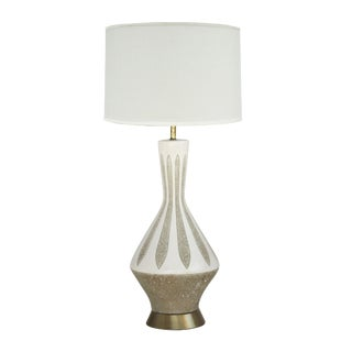 Textured Ceramic Table Lamp For Sale