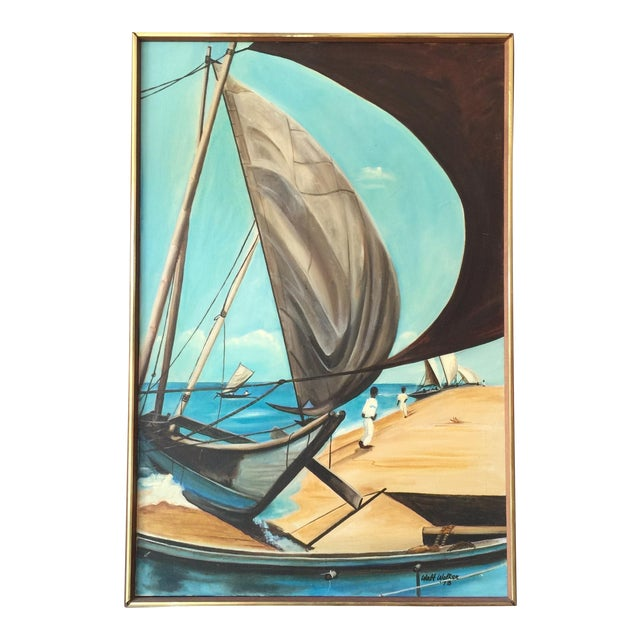 1973 Nautical Oil Painting by Walt Walker For Sale