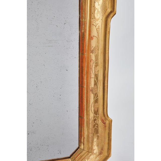 Glass 18th Century Gilt Italian Mirror From Lombardy For Sale - Image 7 of 8