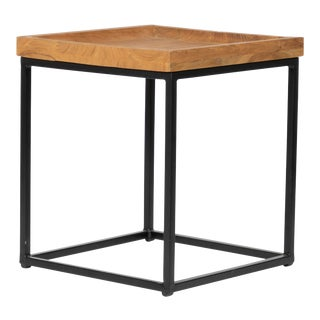 Sunset Square End Table - Brown For Sale