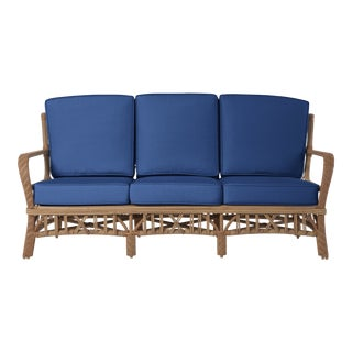 Viscaya Sofa in Pacific Blue For Sale