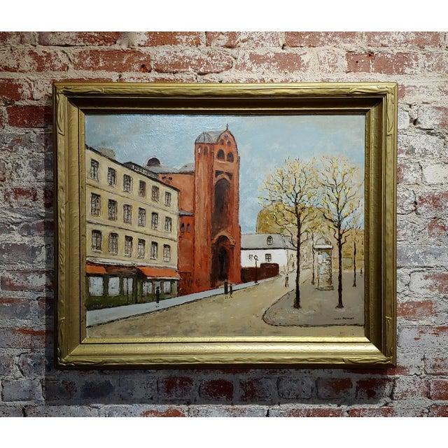 Louis Peyrat -Paris Street Scene - Oil Painting For Sale - Image 11 of 11