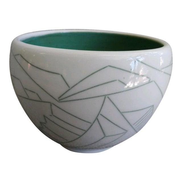Daric Harvie Art Deco Cubist Style Bowl For Sale