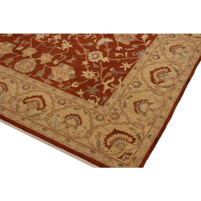 Modern Kafkaz Peshawar Barbar Rust/Gold Wool Rug -8'11 X 12'9 For Sale - Image 3 of 8