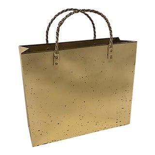 Italian Brass Gift Bag Umbrella Stand For Sale
