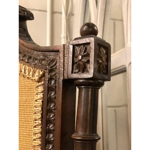 Late 19th Century French Louis XVI Carved Oak Fireplace Screen For Sale - Image 5 of 7