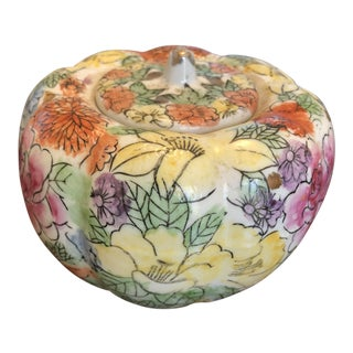 Chinoiserie Millefleur Style Gourd Shape Jewelry Box