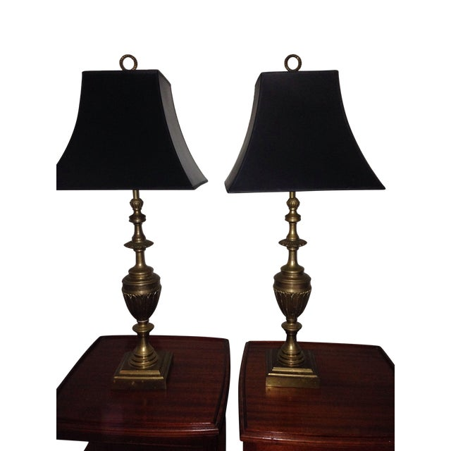 Brass Trophy Lamps - A Pair - Image 9 of 9