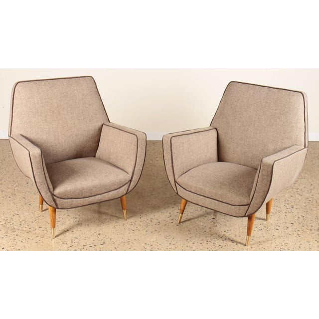 Pair of Italian Mid-Century Modern Chairs For Sale In San Francisco - Image 6 of 6