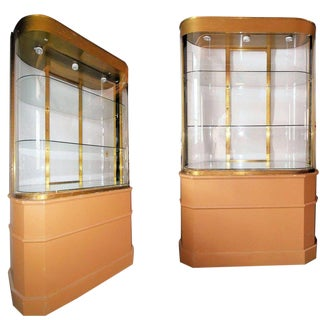 Deco Store Display Cabinet/Divider From Bullocks Wilshire, Pair