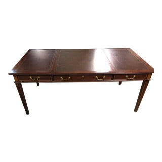 Traditional Councill Furniture Leather Top Writing Desk For Sale