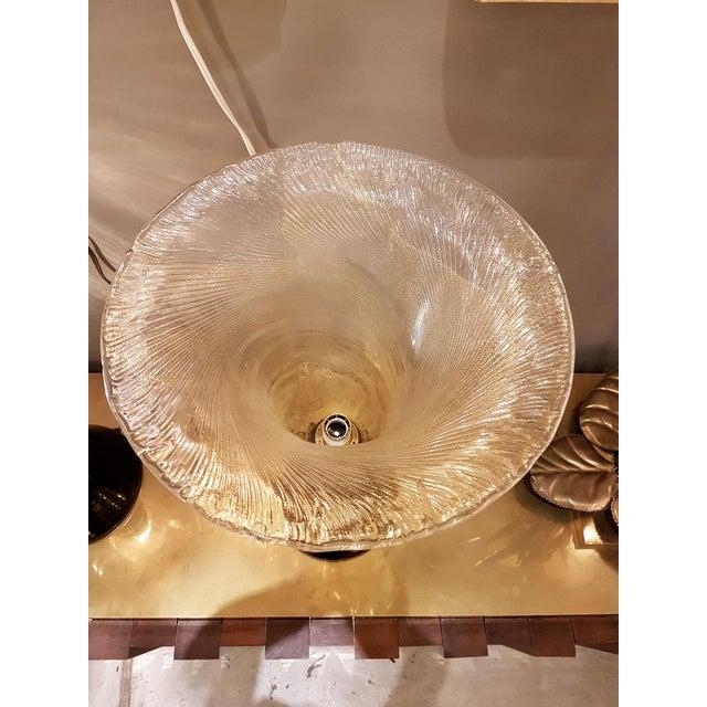 Venini Venini mid-century modern gold & black Murano glass Urn lamps - a pair For Sale - Image 4 of 8