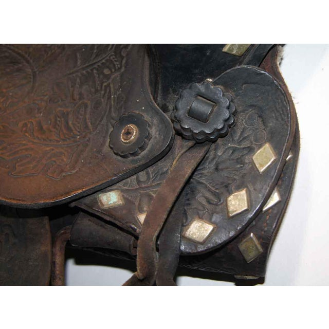 Antique Leather Horse Saddle - Image 2 of 10