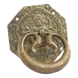 Antique Brass Door Knocker For Sale