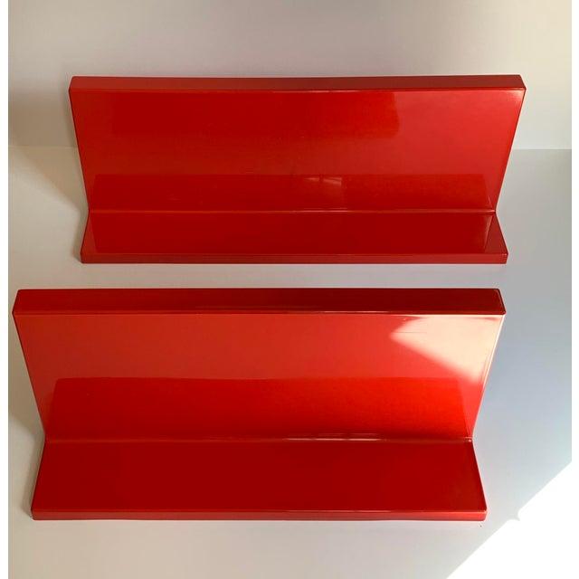 1960s Vintage Kartell Plastic Shelves-a Pair For Sale - Image 5 of 12