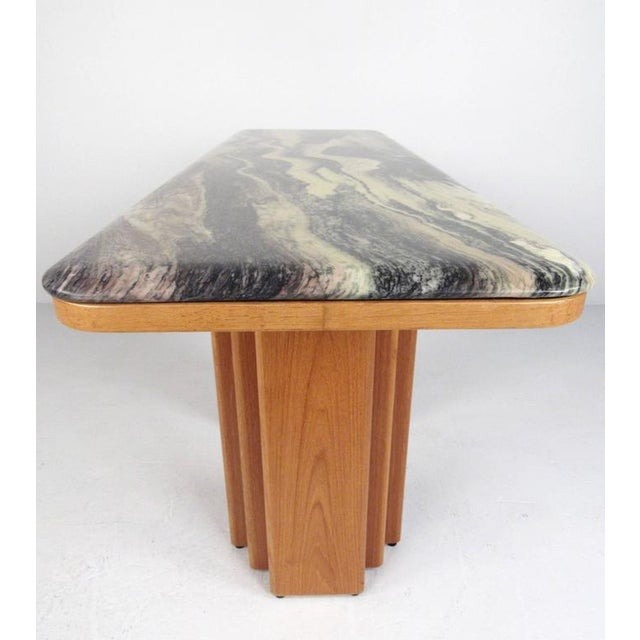 Mid-Century Teak and Marble Console Table by Bendixen Design For Sale - Image 5 of 11