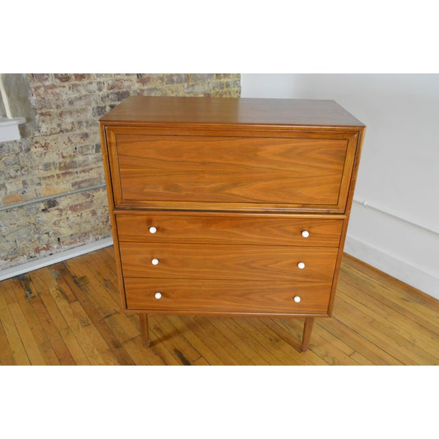 Well made and highly useful storage piece by the NC maker of note, Drexel. Shows lovely walnut and offers a ton of...