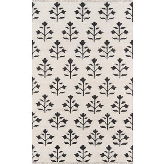 "Erin Gates Thompson Grove Ivory Hand Woven Wool Area Rug 3'6"" X 5'6"" For Sale"