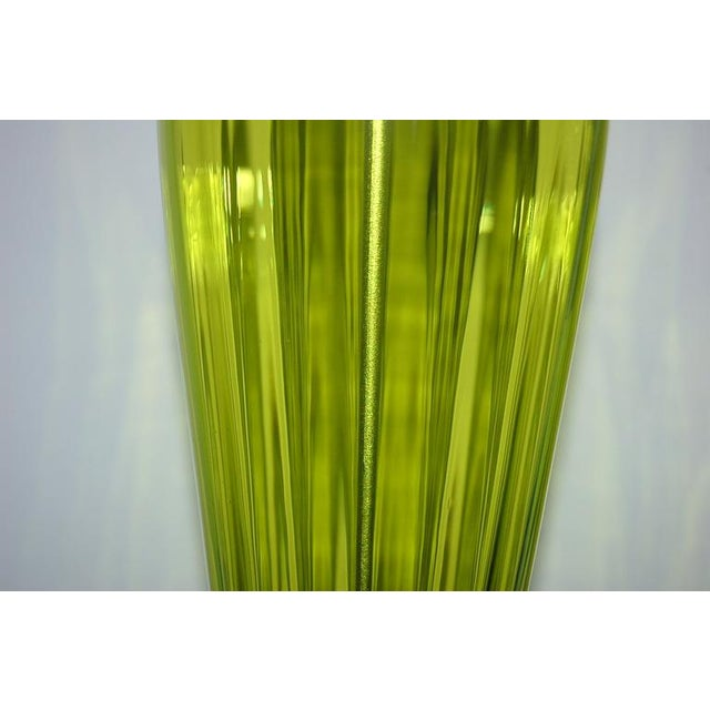 Joe Cariati Glass Table Lamps Green For Sale In Little Rock - Image 6 of 7