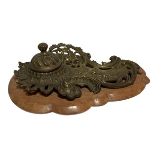Nilmelior j.f.a Paris Bronze Inkwell For Sale