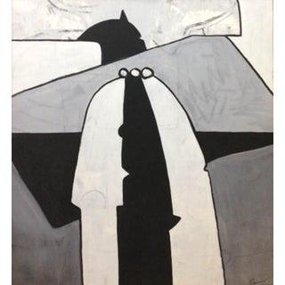 """""""El Vigilante"""" Oil Painting on Canvas by Maximo Caminero For Sale"""