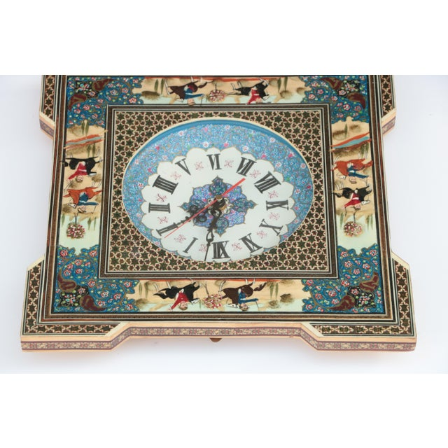 Islamic Persian Khatam Marquetry Clock For Sale - Image 3 of 8