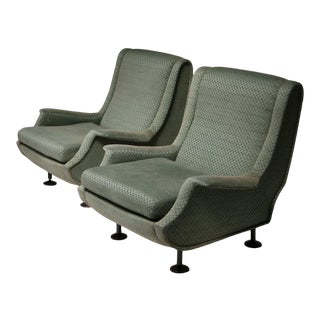 """Pair of """"Regent"""" Lounge Chairs by Marco Zanuso for Arflex For Sale"""