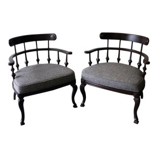 Mid-Century Ranch-Style Arm Chairs - a Pair
