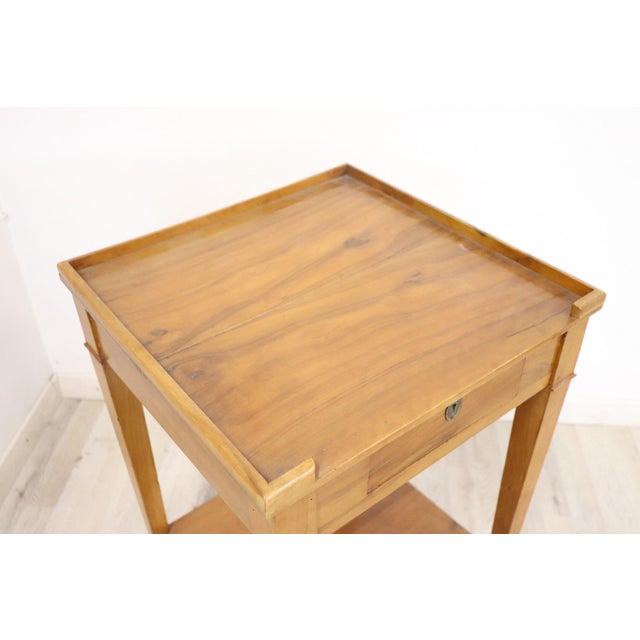 Brown 18th Century Italian Louis XVI Cherry Wood Side Table For Sale - Image 8 of 13