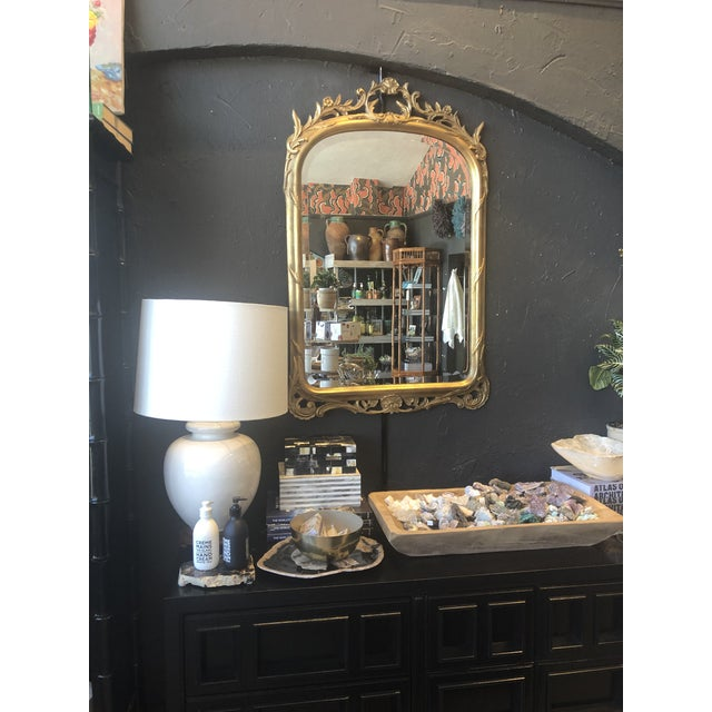 1920s Antique Gold Leaf Mirror For Sale In Los Angeles - Image 6 of 7