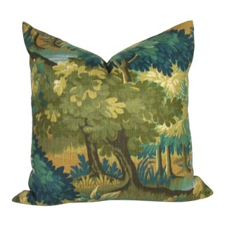 Verdure Print Linen Large Pillow Cover For Sale