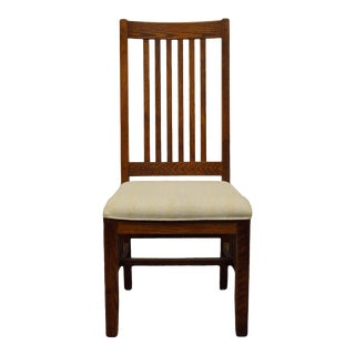 Shin Lee Solid Oak Mission Style Side Chair For Sale