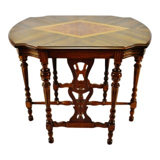 Art Deco Era Hall Table With Diamond Shaped Inlay For Sale
