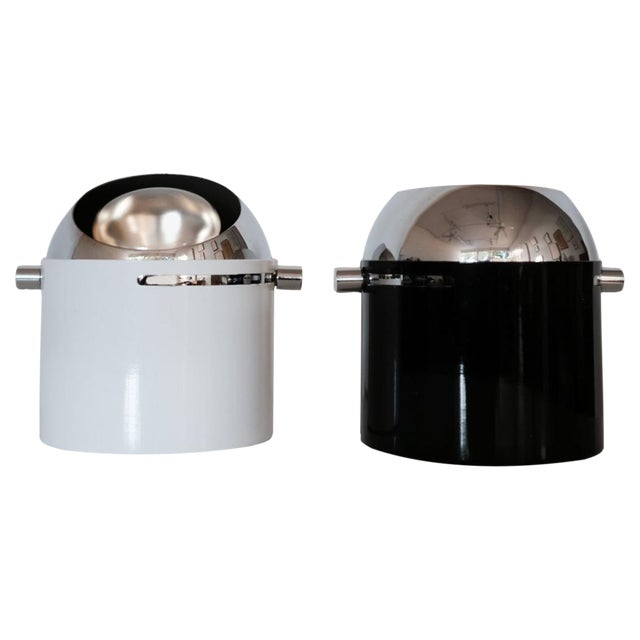 Pair of Bill Curry Design Line Spot Lamps For Sale